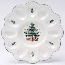 "Christmas 9.5"" Deviled Egg Server"