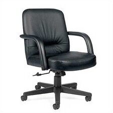 Low-Back Leather Executive Office Chair
