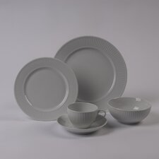 Plisse 5 PC Dinnerware Set With Rimless Bowl