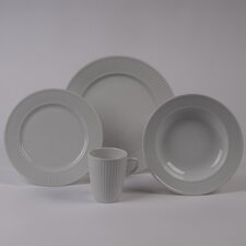 Plisse 4 PC Dinnerware Set With Rimmed Bowl