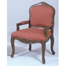 French Provincial Fabric Arm Chair
