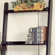 Ladder Leaning Bookshelf with 5 Shelves