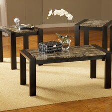 Faux Marble 3 Piece Coffee Table Set