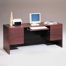 "Bravo Panel 66"" W Computer Credenza with Drawers"