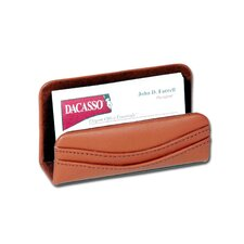 1000 Series Classic Leather Business Card Holder in Tan
