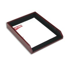 7000 Series Contemporary Leather Front-Load Letter Tray in Burgundy