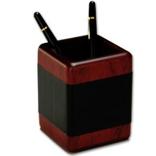 8000 Series Rosewood and Leather Pencil Cup