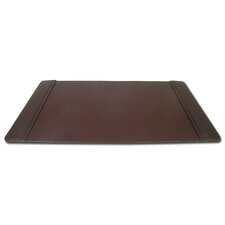 1000 Series Classic Leather 34 x 20 Side-Rail Desk Pad in Chocolate Brown