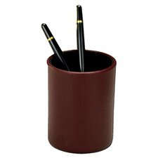 7000 Series Contemporary Leather Pencil Cup in Burgundy