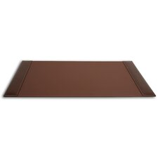 3200 Series Leather 34 x 20 Side-Rail Desk Pad in Rustic Brown