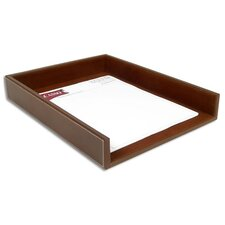 3200 Series Leather Front-Load Letter Tray in Rustic Brown