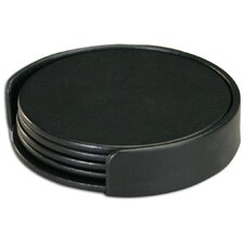 Leatherette Round Coaster (Set of 4)