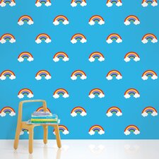 Rainbows Wallpaper in Blue