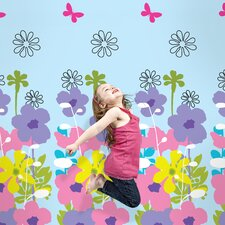 French Bull Shadow Flower Sky Removable Wallpaper