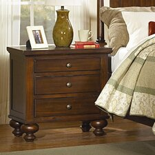 Aris 3 Drawer Nightstand