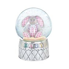 Gingham Bunny Waterglobe
