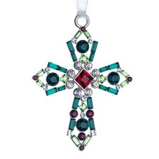 Lunt Annual Jeweled Cross Ornament