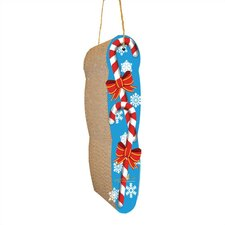 Hanging Candy Cane Recycled Paper Scratching Board