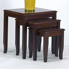 Open Box Price 3 Piece Nesting Table Set in Merlot
