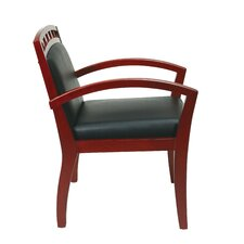 Leg Chair with Upholstered Wood Crown Back