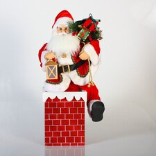 A/C Musical Animated Chimney Santa