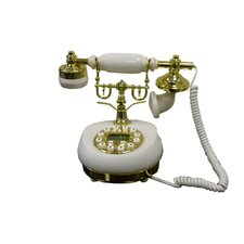 Classic Telephone in White Marble