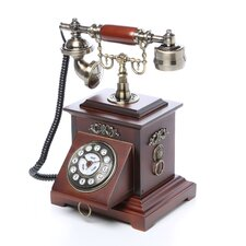 Classic Telephone with Looped Speaker in Mahogany