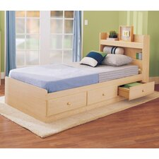 My Space, My Place Storage Twin Bed in Maple
