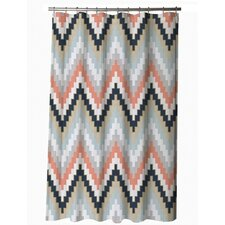 Aspen Harper Cotton Shower Curtain