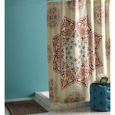 Abu Dhabi Chanda Cotton Shower Curtain