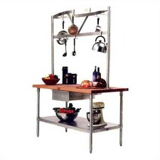Cucina Americana Grandioso Prep Table with Wood Top