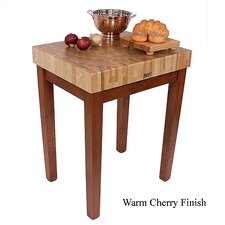 American Heritage Chef's Block Prep Table with Butcher Block Top