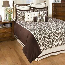 7 West Trevi Brown 4 Piece King Comforter Set