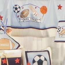 All Star Cotton Tab Top Tailored Curtain Valance