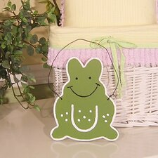 Froggy Lavender Wall Hanging Green Frog