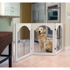 Universal Free-Standing All-Wood Pet Gate in White