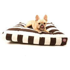 Vertical Strip Rectangle Pet Bed