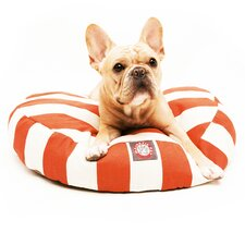 Vertical Strip Round Pet Bed