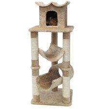 "47"" Casita Fur Cat Tree"