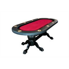 "Elite 94"" Sunken Playing Surface Poker Table in Red"