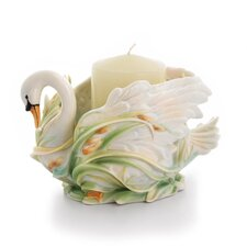 Swan Lake Porcelain Candle Dish