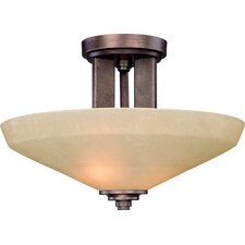 Sherwood 2 Light Semi Flush Mount