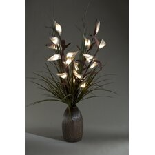 Lighted Bird of Paradise in Ceramic Bottle