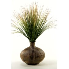 Onion Grass in Oval Bottle Vase