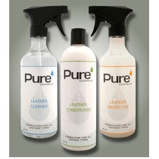 Professional Leather Upholstery Care - 3 Product Set