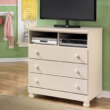 Carey 3 Drawer Media Chest