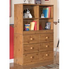 Elsa Loft Bookcase and Storange Drawers in Brown
