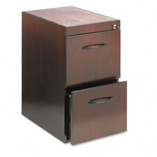 File/File Pedestal For Desk, 15W x 24D x 27H, Mahogany