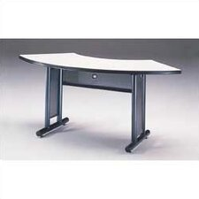 "Meeting Plus: 67"" x 24"" Crescent Meeting/Training Table"