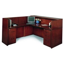 "Corsica 72"" W Reception Desk (Left Configuration)"